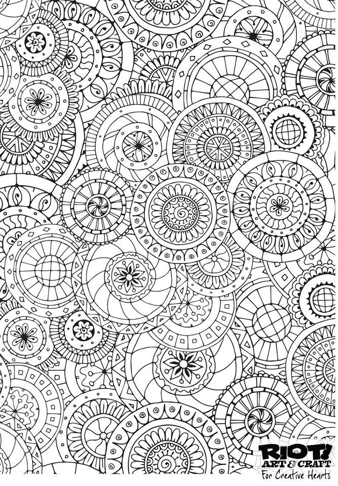 Circles (With images) | Free adult coloring pages ...