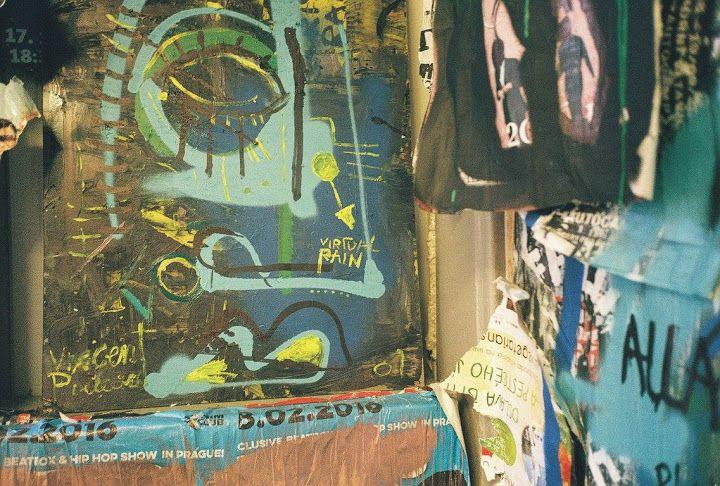 This painting is called: Virtual Rain Vincent Pieraerd - Residency Program 2016 – Studio Bubec #madeinBUBEC