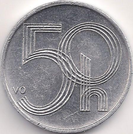 Wertseite: Münze-Europa-Mitteleuropa-Tschechien-Koruna-0.50-1993-2008
