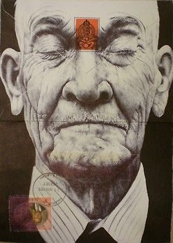Mark Powell has chosen the backs of old envelopes as a canvas for delicately rendered portraits of elderly, using nothing more than a standard Bic Biro pen to creta the delicate folds and wrinkles of their skin.