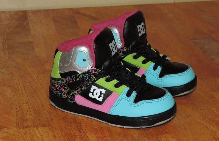 DC Toddler Girls High Top  Sneakers Size 8 EUC! #DCShoes #Athletic