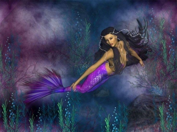 mermaid purple purple mermaid wallpaper pisces fish