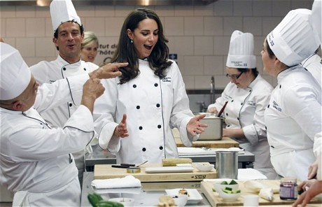 Catherine in chef's whites!
