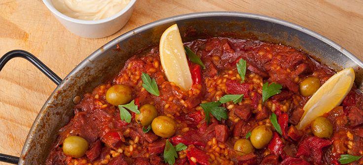 Chorizo, Olive & Piquillo Paella