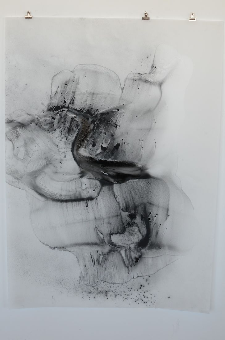 Julie Tremblay powdered charcoal and matte oil varnish on vellum, 2014