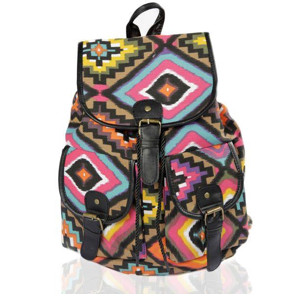 Kangasreppu -Värikäs Aztec Kuvio