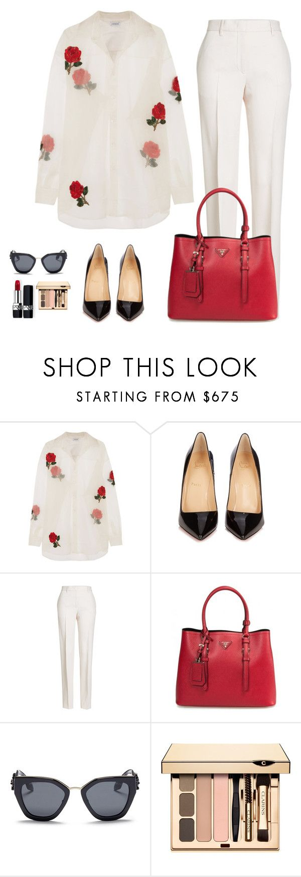 """Business look inspiration"" by monika1555 on Polyvore featuring Ashish, Christian Louboutin, Jil Sander, Prada and Christian Dior"