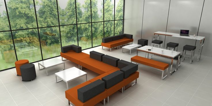 Chicago Modular, versatile range of sofa, stools, benches coffee, dining and poseur height tables