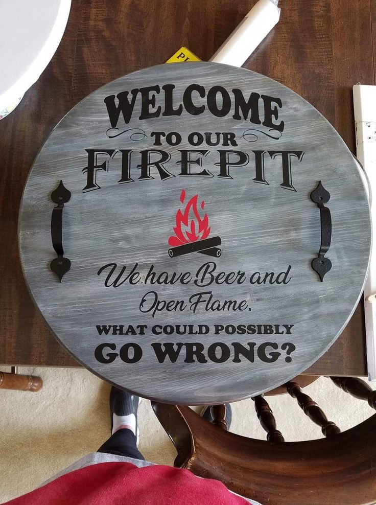 Pin by Katie Boyd on cricut projects Round wood sign