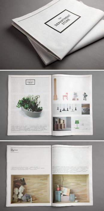 The Department Store is a new and achingly lovely retailer in Aukland. The shopping experience is surely lush—it's modeled in principle on department stores of the 20's and 30's—but what caught my eye was the identity work, and this newspaper designed for the opening. (via Notcot)