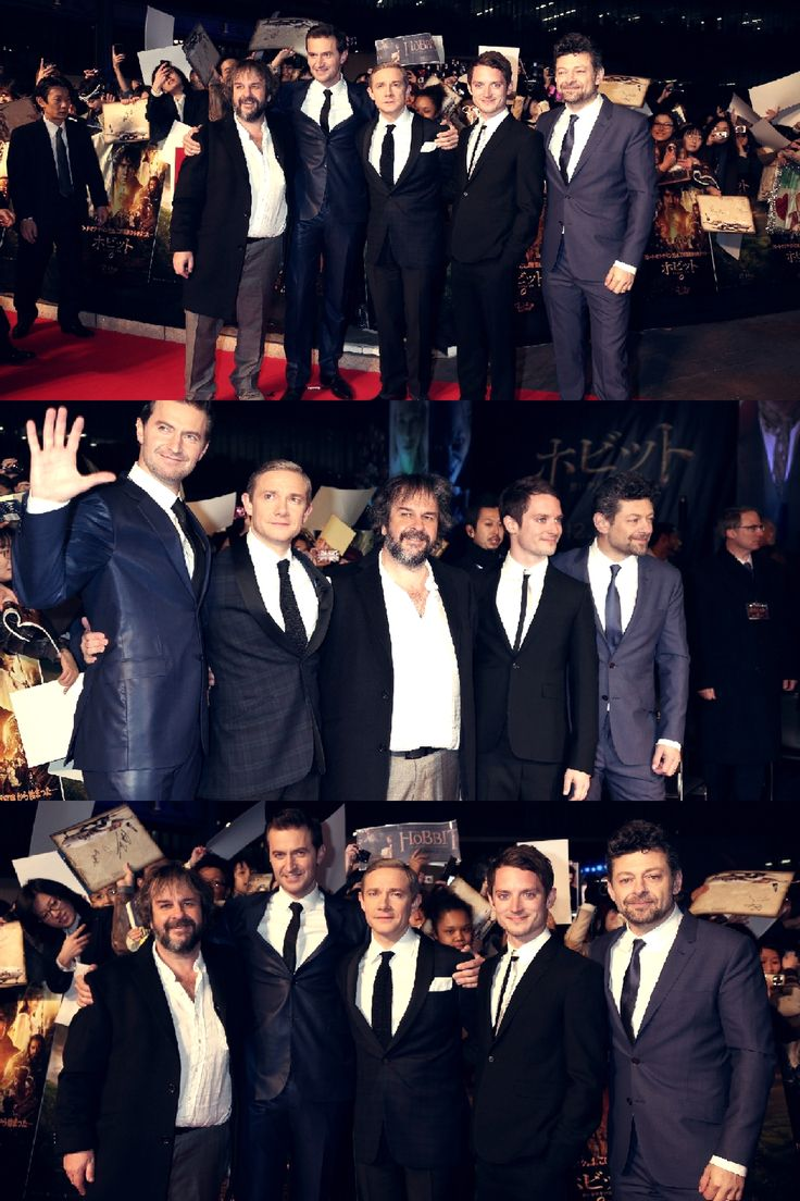 "That awkward moment when the ""dwarf"" is a head taller than everyone else, and the hobbit is taller than the director...."