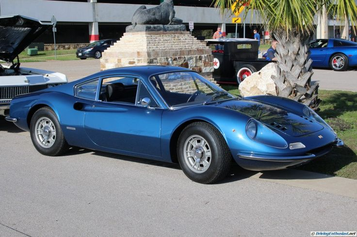 Ferrari Dino GT. As seen at the March 2016 Cars and Coffee show in Austin TX USA.