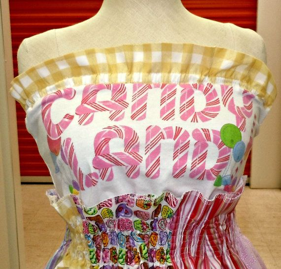 Candy Land Dress Womens Party Dress Kawaii Candy by CandyStickLane, $78.99