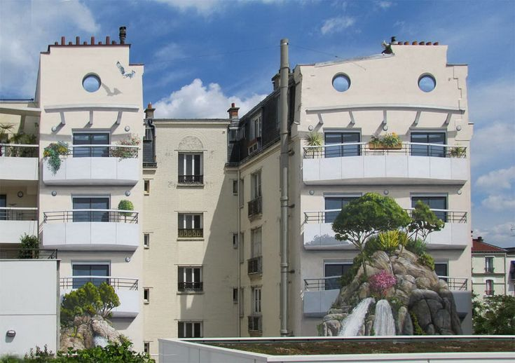 Французский художник интересно разрисовывает стены домов. Обсуждение на LiveInternet - Российский Сервис Онлайн-Дневников