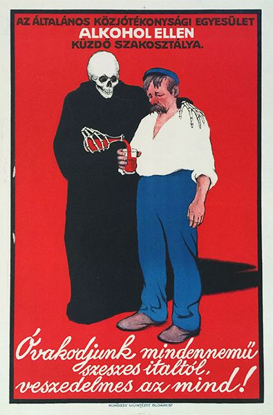 Voit Ervin - 'Beware of any Kind of Alcoholic Beverage, they are all perilous', 1912