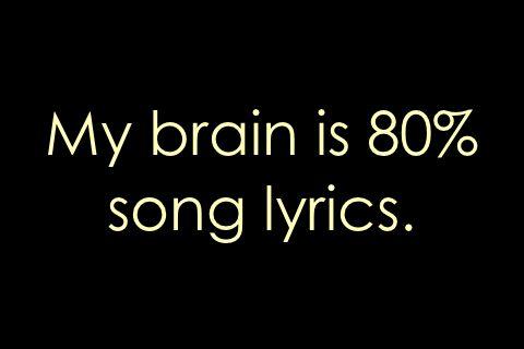 my brain is 80 song lyrics