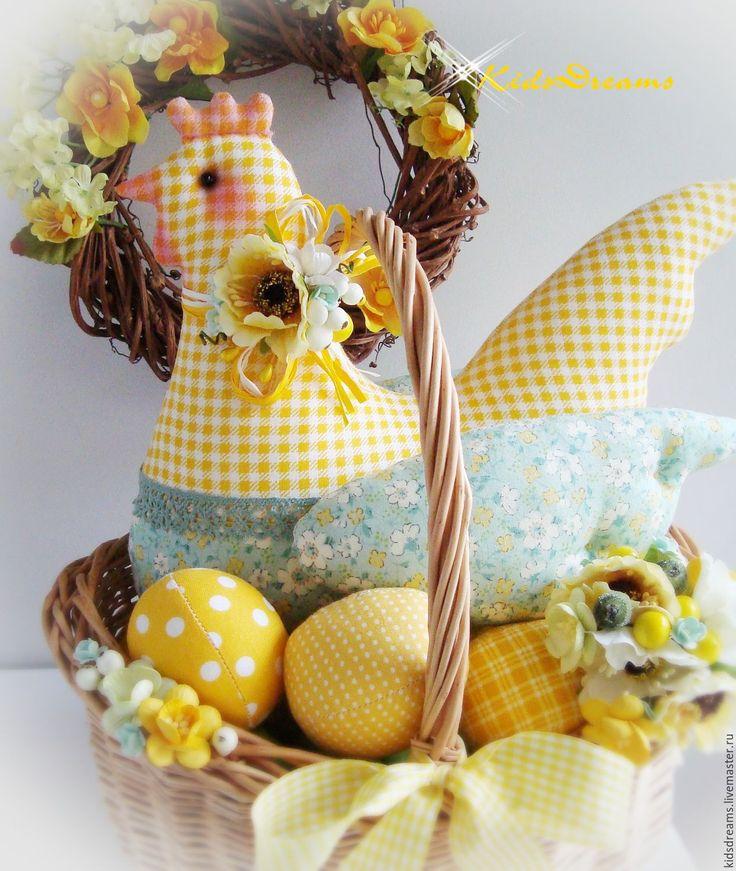 """Купить Курочка """"Солнечная"""" - желтый, зеленый, Пасха, пасхальный сувенир, пасхальный подарок, курочка"""