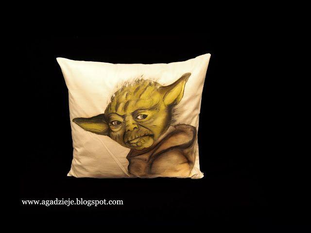 agadzieje: Świecący Mistrz Yoda ( malowanie na tkaninie )