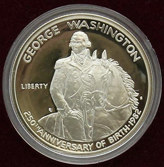 1982 George Washington Proof Silver Half Dollar Commemorative Coin