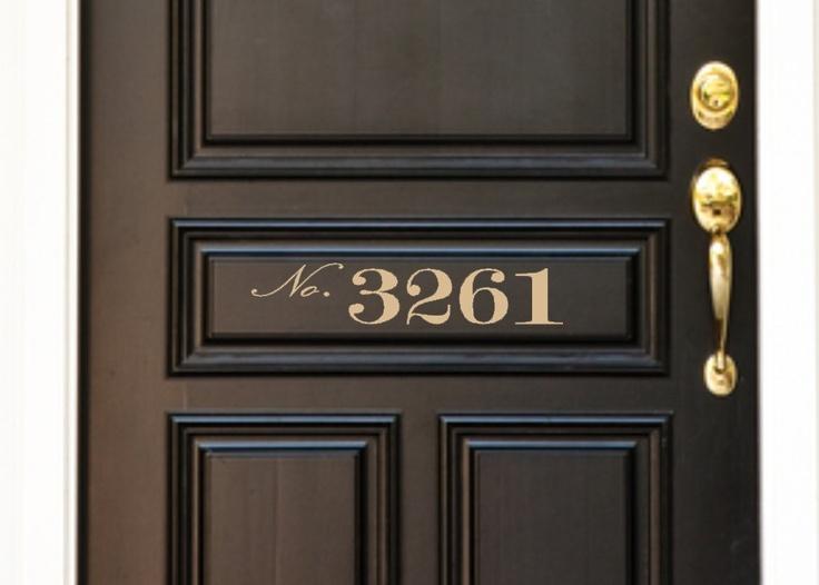 Custom vinyl front door house number 8 00 via etsy