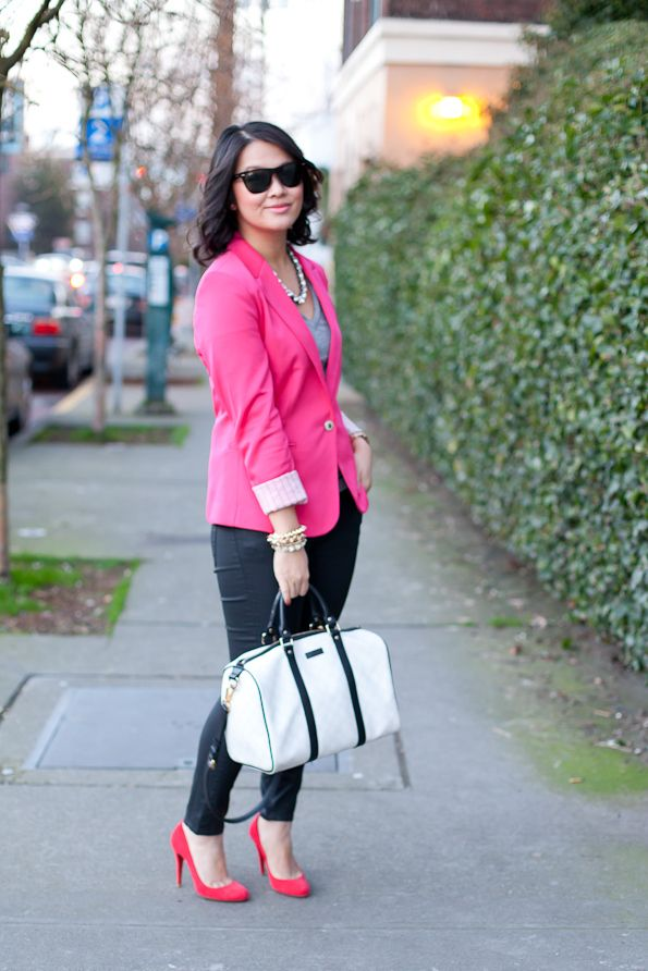 129 best images about how to wear my pink blazer on pinterest
