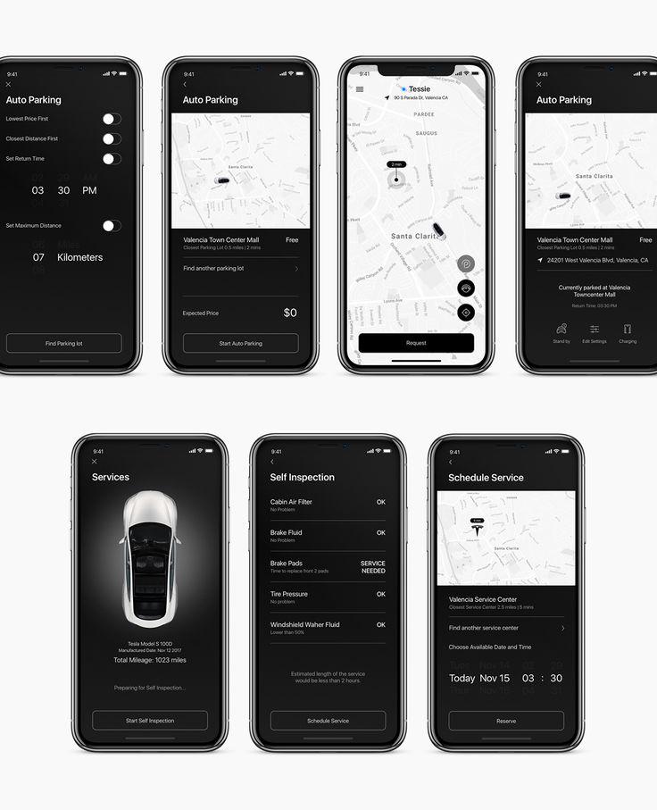 Tesla autopilot level 5 autonomous car control app on