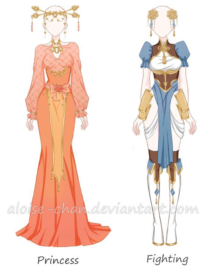 [CM] Chinese Outfit Sheet 2 @Lucki13ear by Aloise-chan.deviantart.com on @DeviantArt