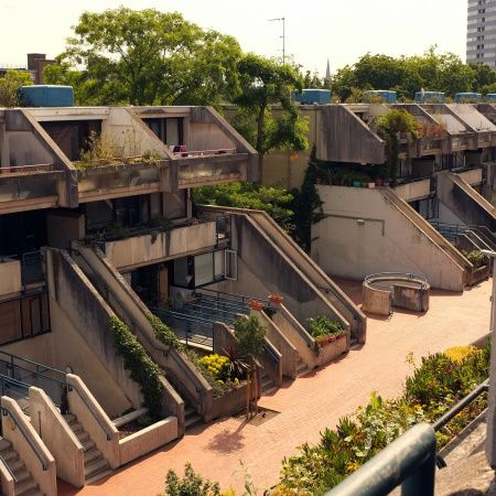 Alexandra Road is perhaps the most iconic estate creating during the glory days at Camden Borough Council – when large scale social housing projects were still high on the agenda. The estate was designed and constructed between 1968-1978 by architect and artist Neave Brown.