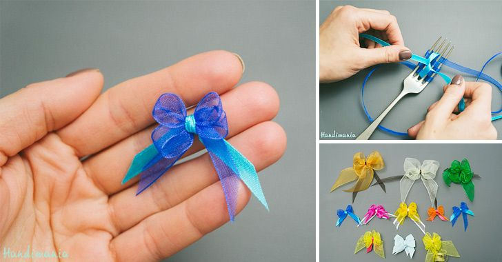 How to Make Tiny Bow - DIY & Crafts - Handimania