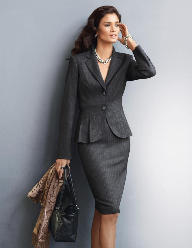 Classic pin striped suit. | WORKING 9 TO 5
