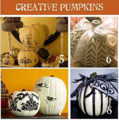 how to decorate my pumpkin this year! forget carving!!!