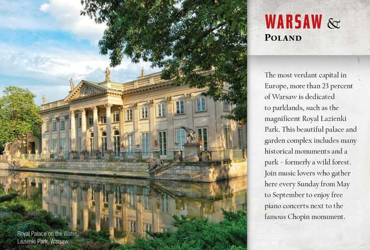 Warsaw, Poland.  Pictured is the Royal Palace in Lasienki Park.