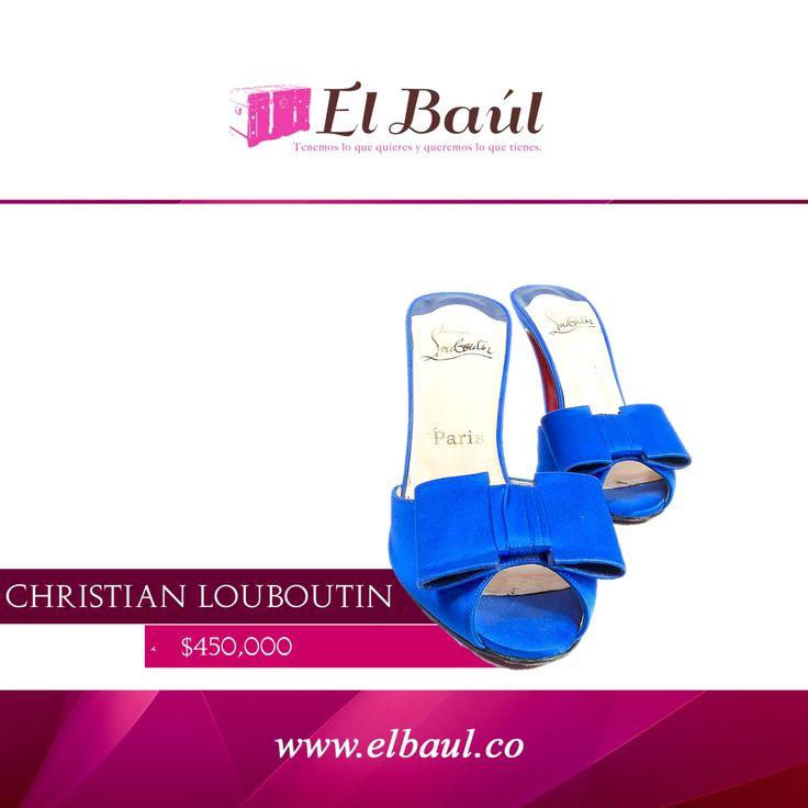 "@LouboutinWorld. ""Ni demasiado rico, ni demasiado fino"", el lema de este diseñador 450,000  http://elbaul.co/Productos/1449/Christian-Louboutin-zapatos-azul-rey-"