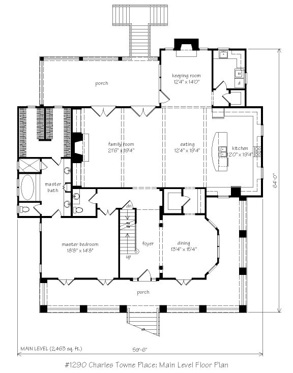 4 027 sq ft charles towne place l mitchell ginn for House plans with keeping rooms