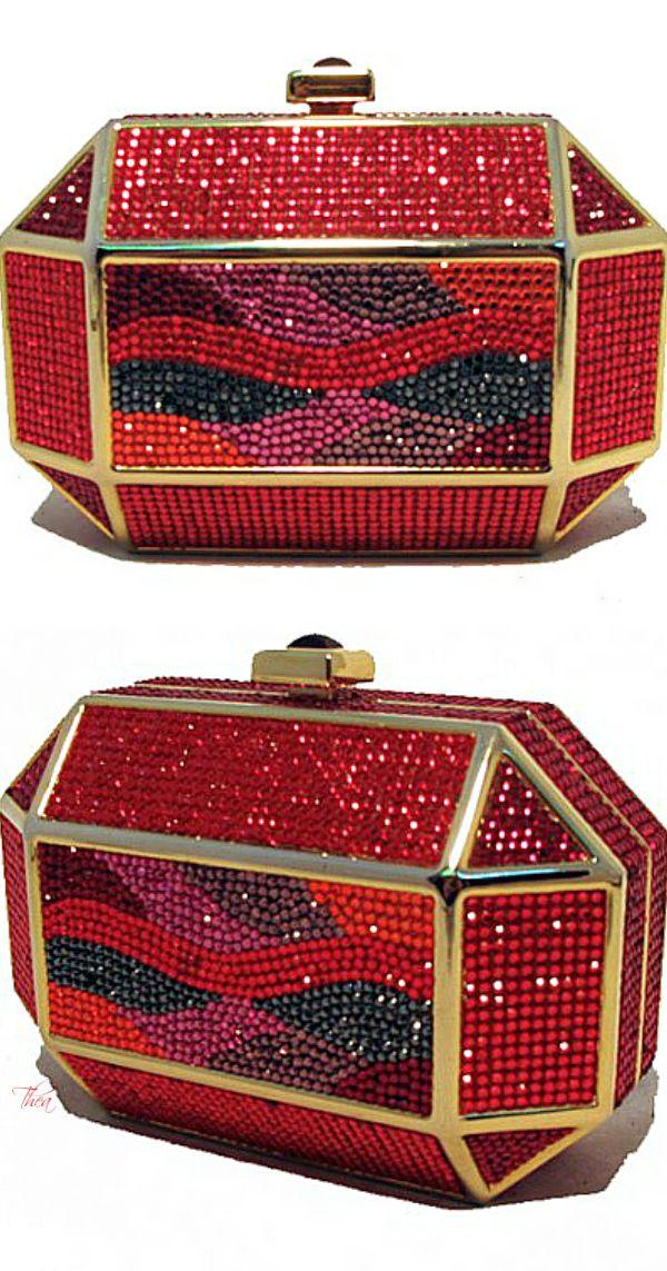 Judith Leiber ● Vintage Red Swarovski Crystal Minaudiere - LadyLuxuryDesigns