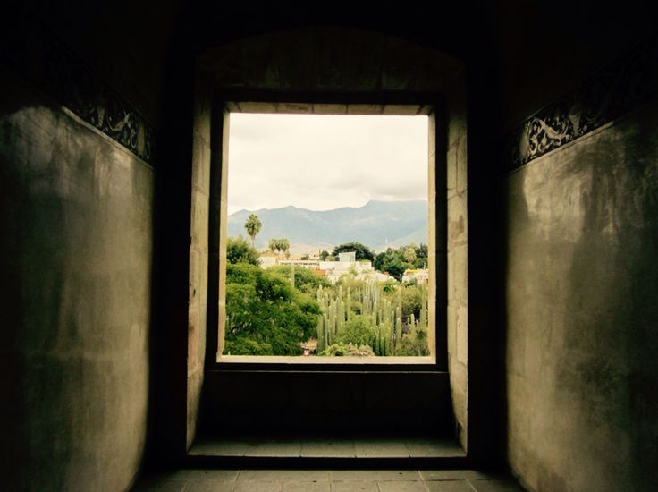 View of Ethnobotanical Garden from the Cultural museum Oaxaca.