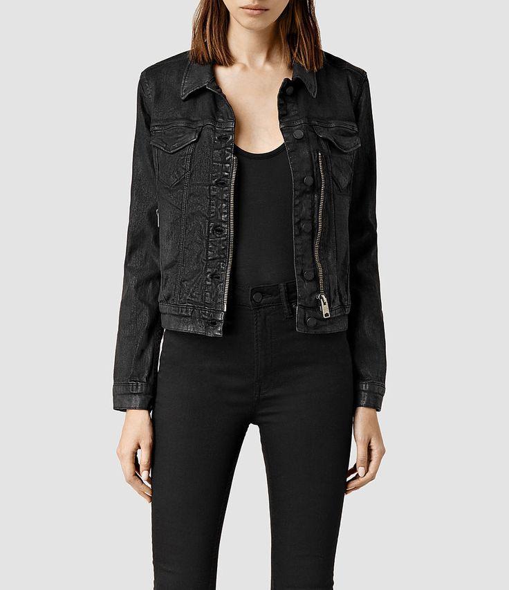 black denim jacket womens - Google Search