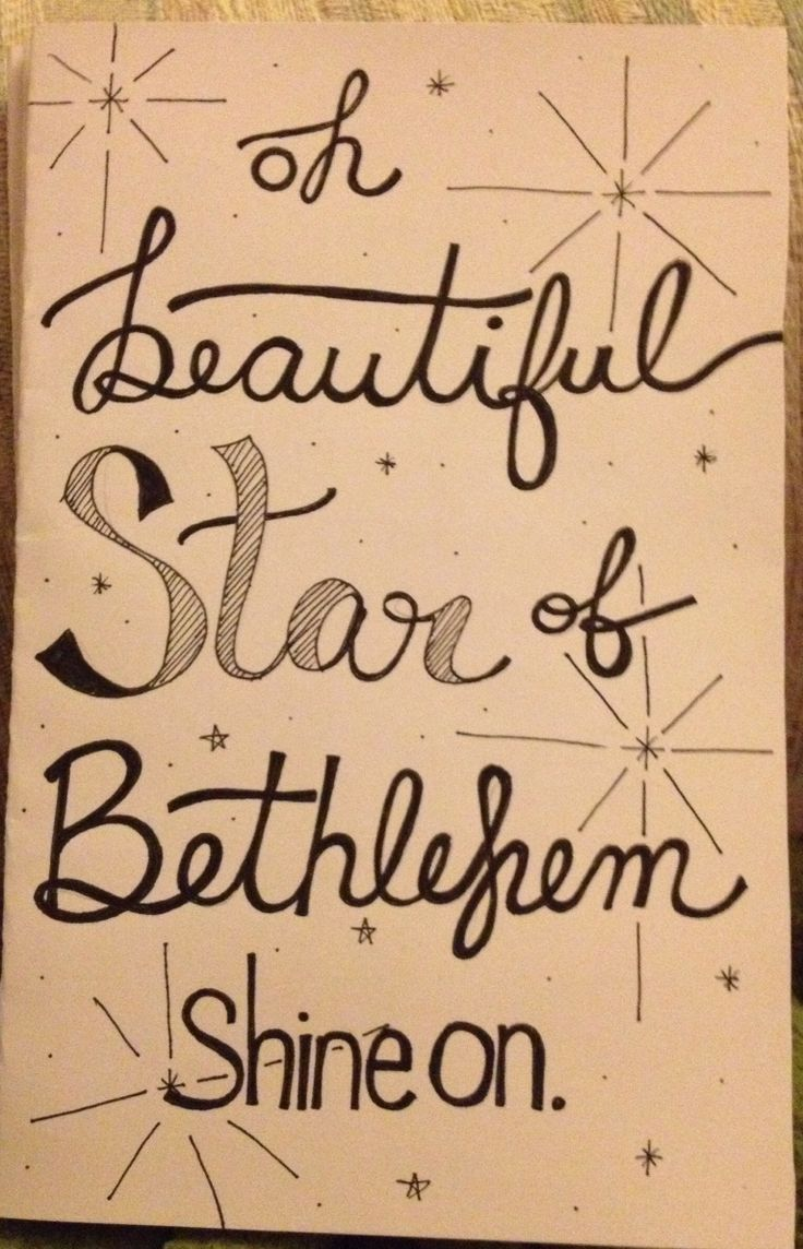 Hand Lettered Christmas Card Oh Beautiful Star Of