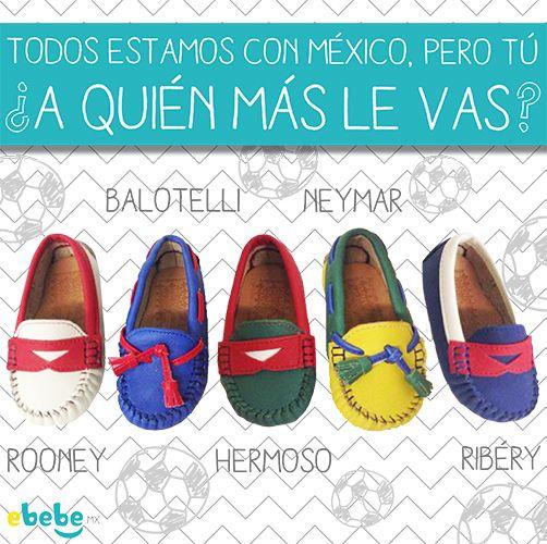 Hay que seguir la moda del mundial! estos zapatos están increíbles y aparte los pueden combinar papá, mamá, niños y bebés! #gol #brasil #francia #italia #mexico #inglaterra www.ebebe.mx