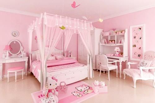 #bedroom #pink #hellokitty #kawaii #cute #girly # ...