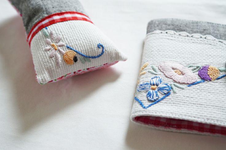 Pin Cushion & Needle Book set