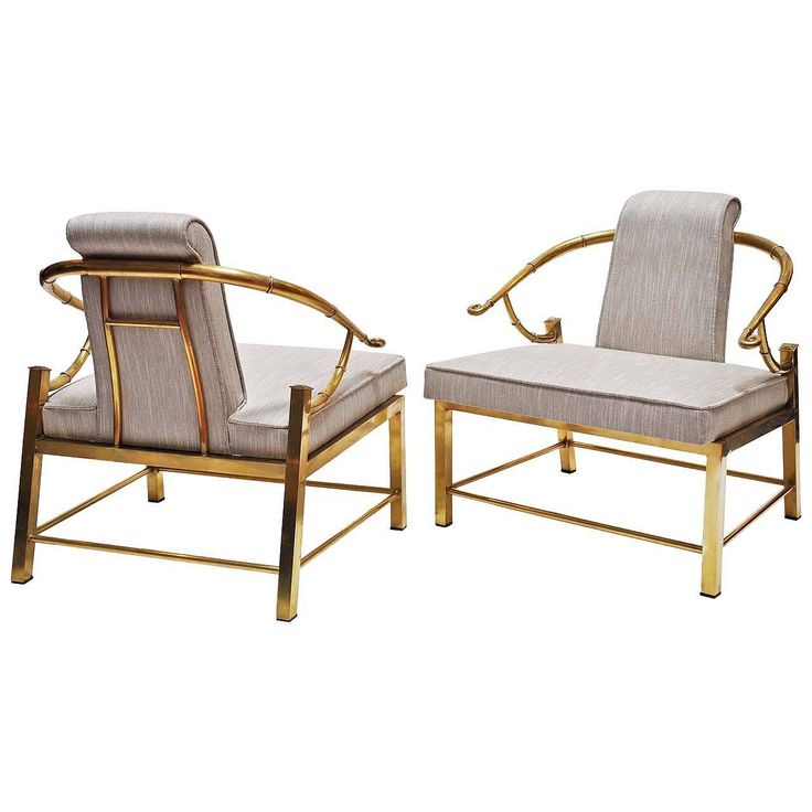 Pair of Mastercraft Chairs, Brass, Upholstery | From a unique collection of antique and modern armchairs at https://www.1stdibs.com/furniture/seating/armchairs/