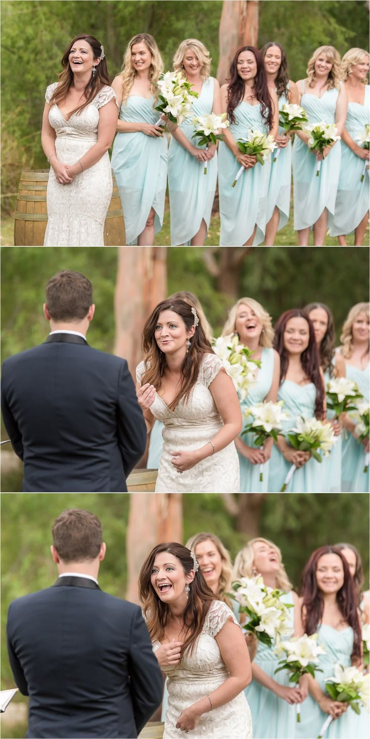 All the best facial exprerssions!! Wedding photography at k1 Hardy, winery - South Australia, outdoor, bridal party, wedding photography, ceremony photography, Adelaide photography. www.gpix.com.au.