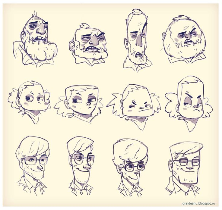 Character Design Basic Shapes : Best face expressions images on pinterest