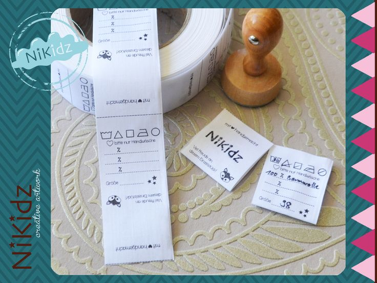 100 Textiletiketten zum Einnähen  von NiKidz auf DaWanda.com