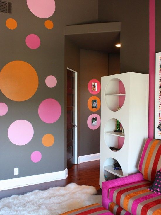 Another view of a very fun space!Polka Dots, Orange County, Girls Bedrooms, Kids Room, Girls Room, Room Ideas, Kids Design, Girl Rooms, Teen Room