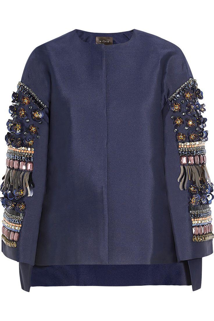 Kimbra embellished shantung jacket | Biyan | 50% off | FR | THE OUTNET