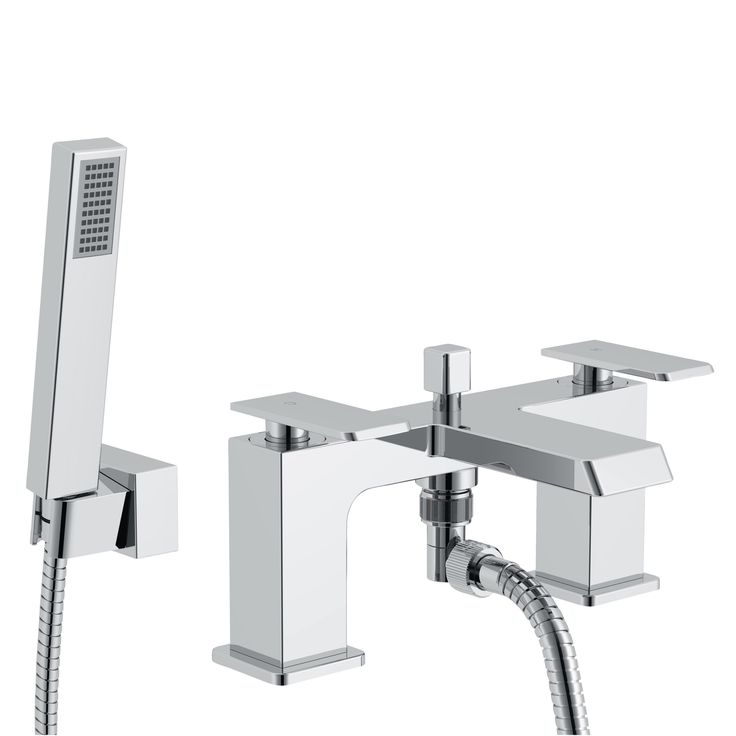 Cooke & Lewis Harlyn Chrome Bath Shower Mixer Tap | Departments | DIY at B&Q