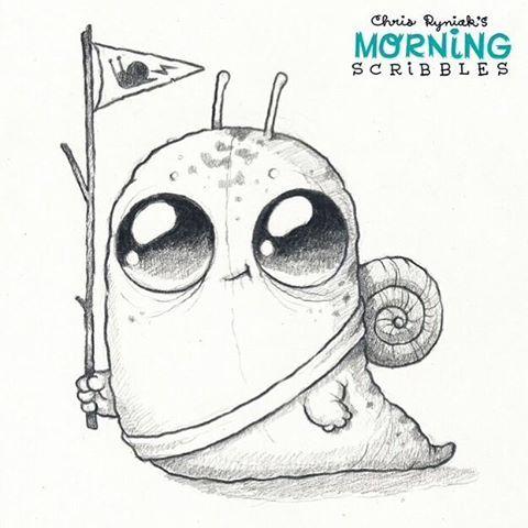 Snail Scout! #morningscribbles