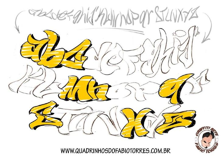 Graffiti arte alphabet by Triagem'one